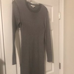Beautiful silver fitted sweater dress